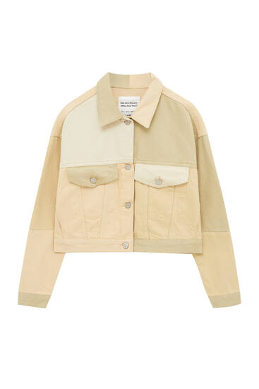 Sand-coloured patchwork jacket