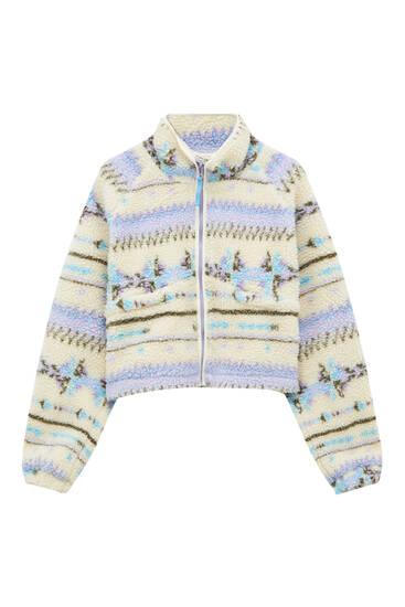Куртка из мягкой ткани с принтом