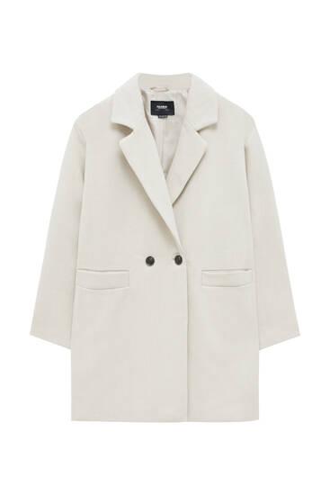 Базовое пальто со спущенной линией плеча