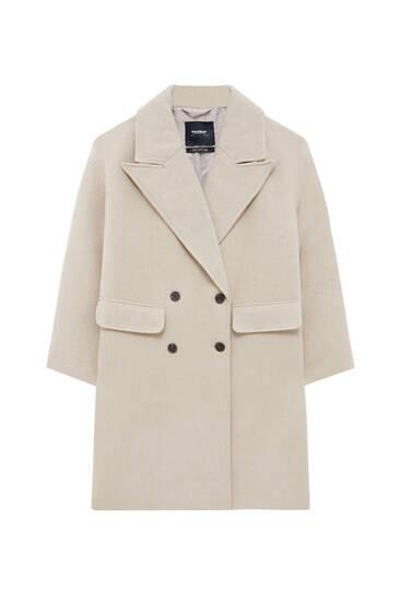 Lange wollige jas