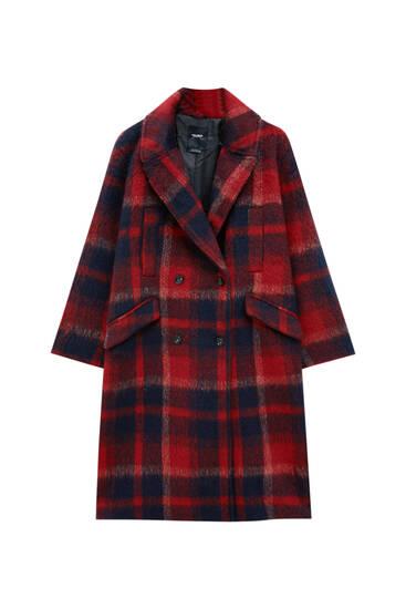 Long coat with lapel collar
