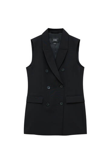 Lightweight double-breasted waistcoat