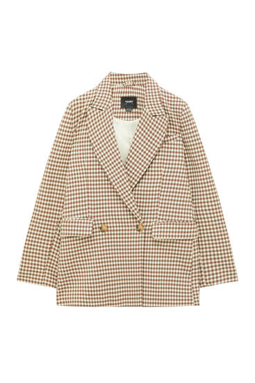 Double-breasted two-button blazer