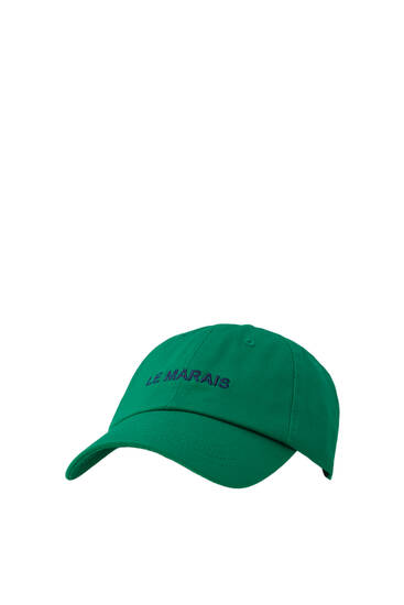 Cap with contrast embroidery