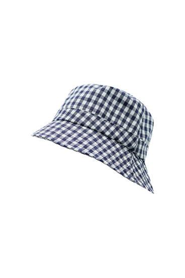 Pălărie bucket în carouri Vichy
