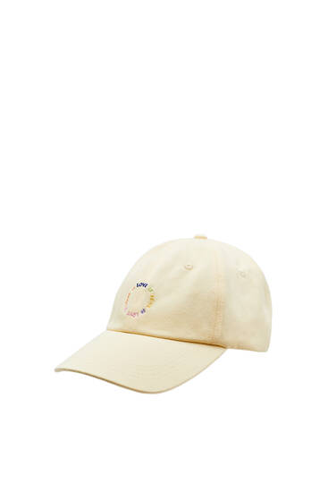 Embroidered love cap