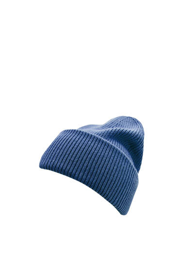 Purl knit beanie