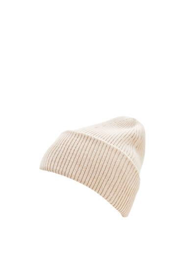 Berretto beanie maglia perlé