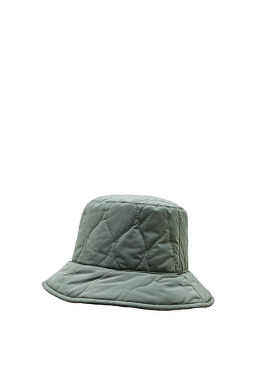 Reversible quilted bucket hat
