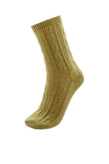 Ribbed thick socks