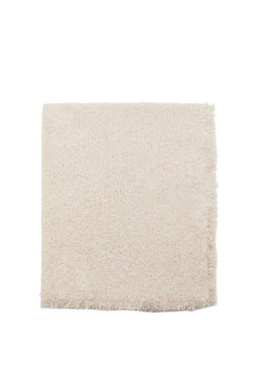 Bouclé knit scarf