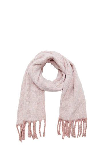 Flecked knit scarf