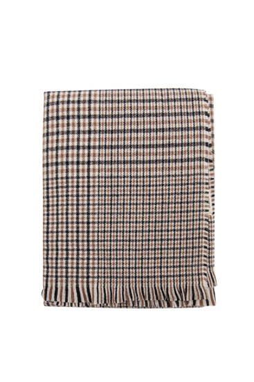 Soft knit houndstooth scarf