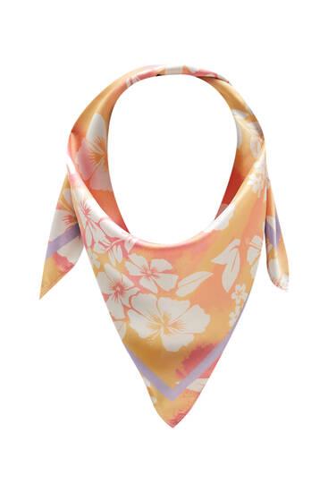 Pañuelo tie-dye flor hawaiana