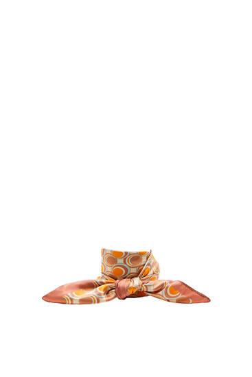 Retro circle print scarf