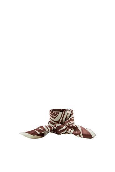 Bruine sjaal met zebraprint