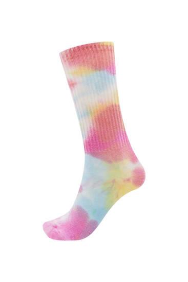 Long tie-dye socks
