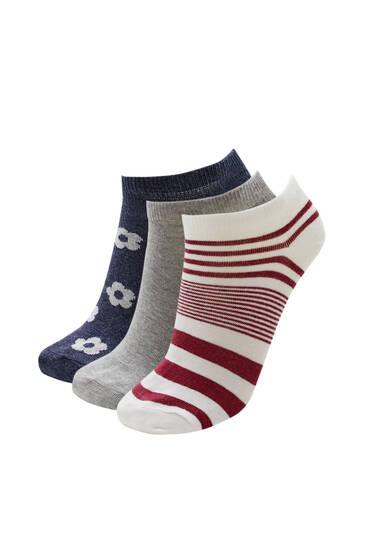 Pack of retro floral socks