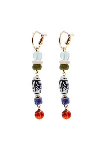 Ceramic dangle earrings