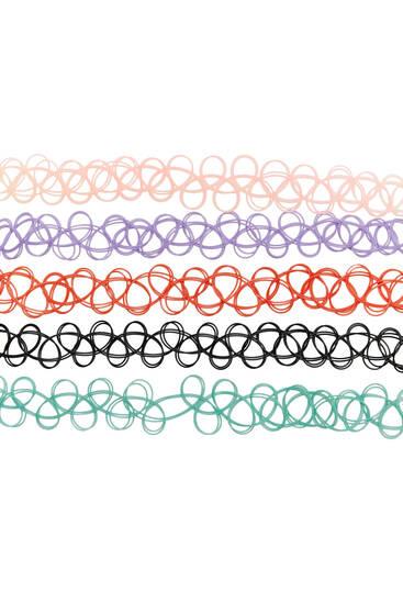 Pack of elastic chokers