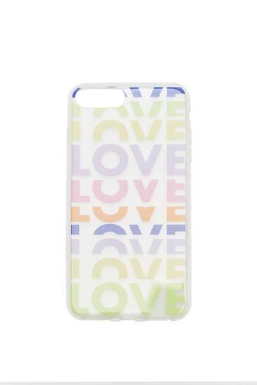 Чехол для смартфона с принтом LOVE