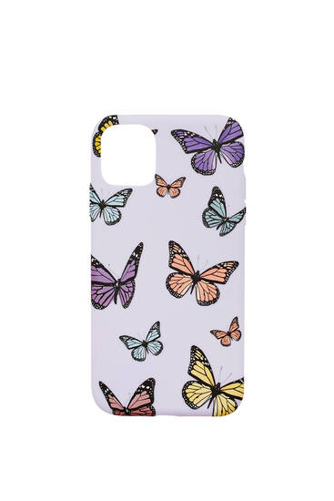 All-over butterfly print smartphone case