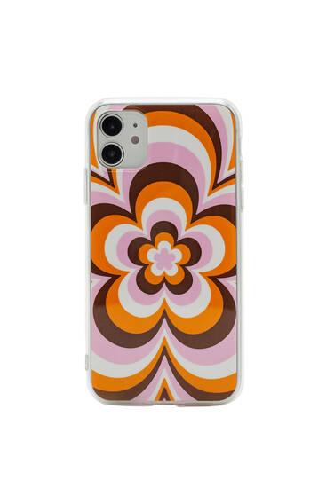 Retro flower print smartphone case