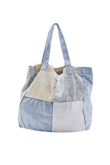 Paisley print patchwork bag