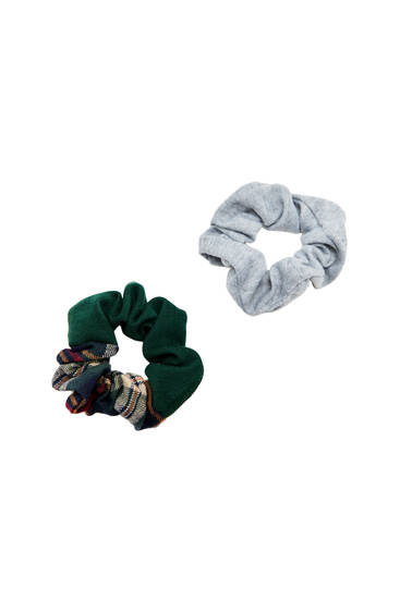 2-pack of patchwork scrunchies