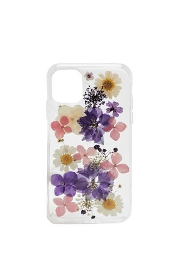 Flower print smartphone case