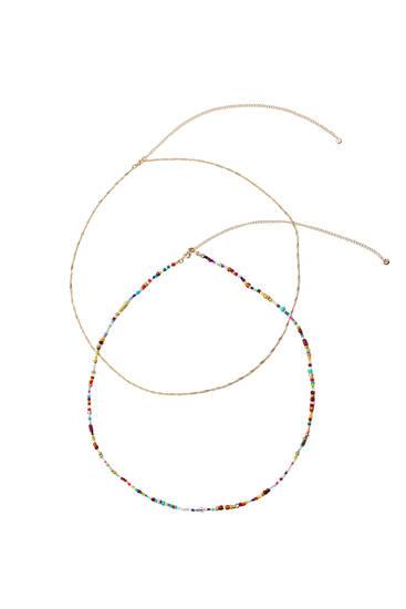 Цепочка с цветными декоративными деталями
