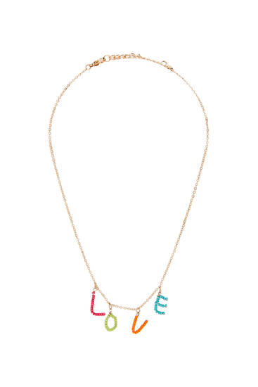 Necklace with LOVE pendant