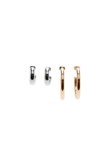 2-pack of chunky hoop earrings