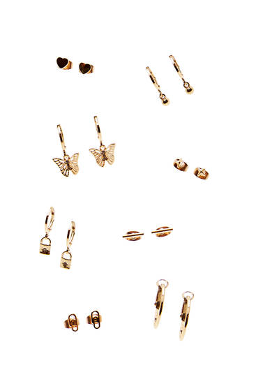 8-pack of butterfly earrings