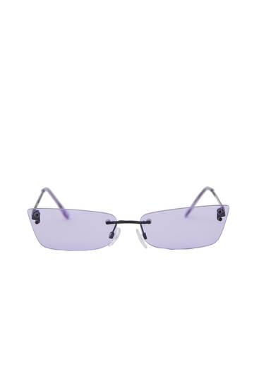 Gafas sol rectangular sin montura