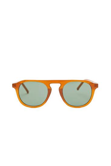Oval resin sunglasses