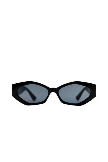 Hexagonal frame sunglasses
