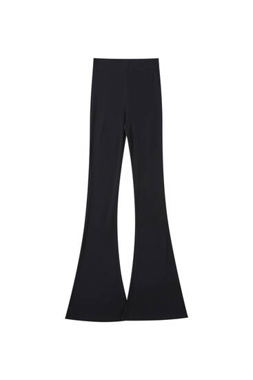 Stretch bell bottom trousers