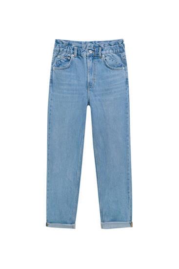 Paperbag wide mom jeans