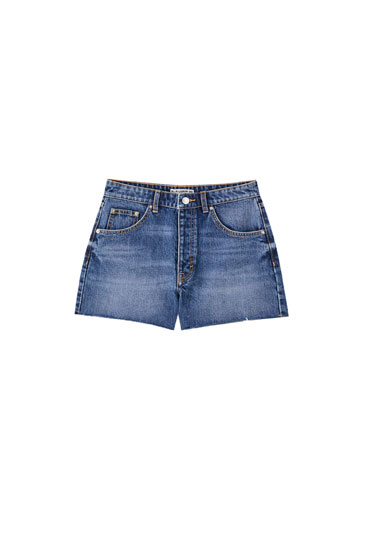 Basic denim shorts - ecologically grown cotton (at least 50%)