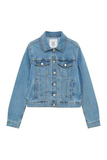 Veste en jean basique ajustée