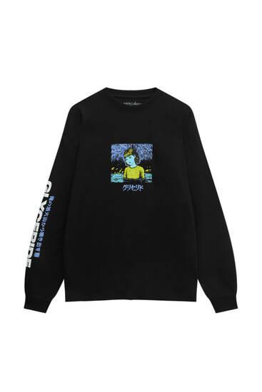Schwarzes Shirt Junji Ito Glyceride