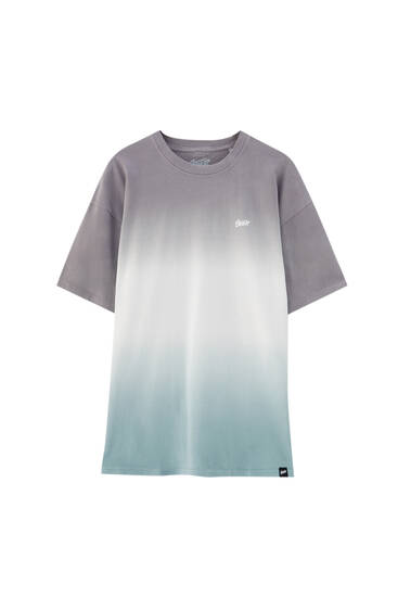 Tie-dye panelled T-shirt