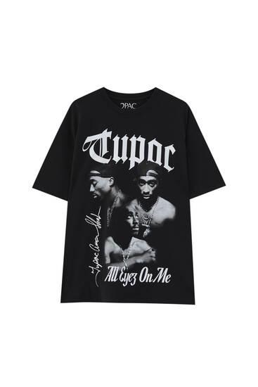 Schwarzes Tupac-T-Shirt
