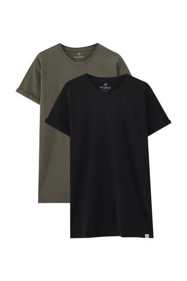 Σετ με 2 μπλούζες basic muscle fit