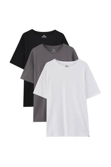 Набір із 3базових футболок із короткими рукавами