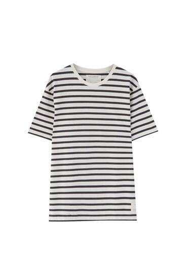 Базова футболка з контрастними смугами