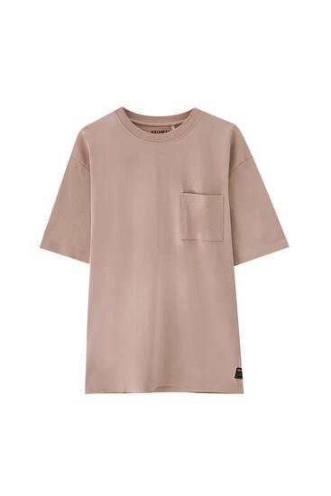 Μπλούζα oversize premium με τσέπη