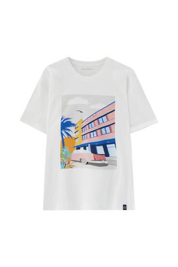 White T-shirt with Havana illustration