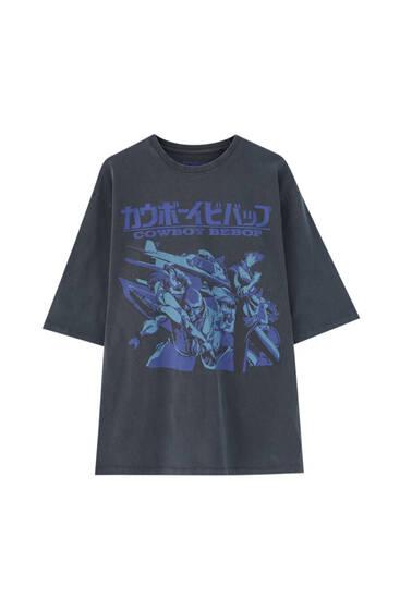 Grey Cowboy Bebop T-shirt